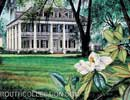 Houmas House Louisiana Plantation Watercolor