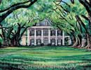 Louisiana Plantation Watercolor