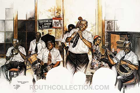 Preservation Hall Watercolor